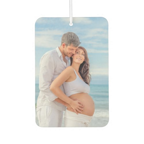 Custom Photo Bump on Board Blue Wood Air Freshener