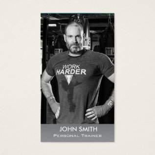 Custom Photo Business Card: Personal Trainer/coach Business Card at Zazzle
