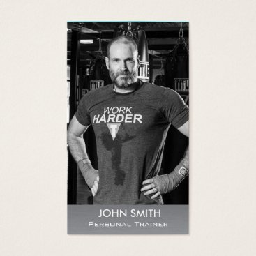 Professional Business Custom Photo Business Card: Personal Trainer/Coach Business Card