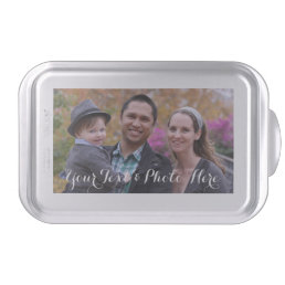 Custom Photo Cake Pan Template | Baking Pan & Lid