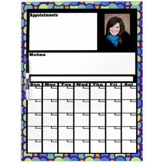 Custom Photo Calendar Dry Erase Board
