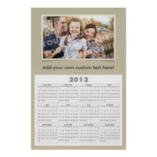 Custom Photo Calendar Poster Template