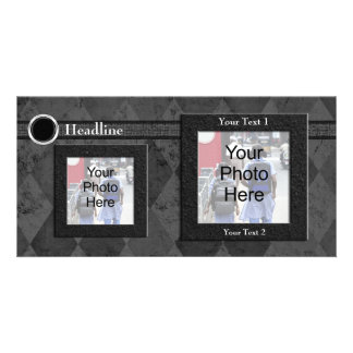 Custom Photo Card, Black Wedding or Formal Design Card