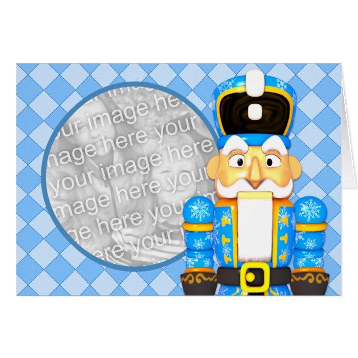 Custom Photo Card NutCracker Soldier Blue