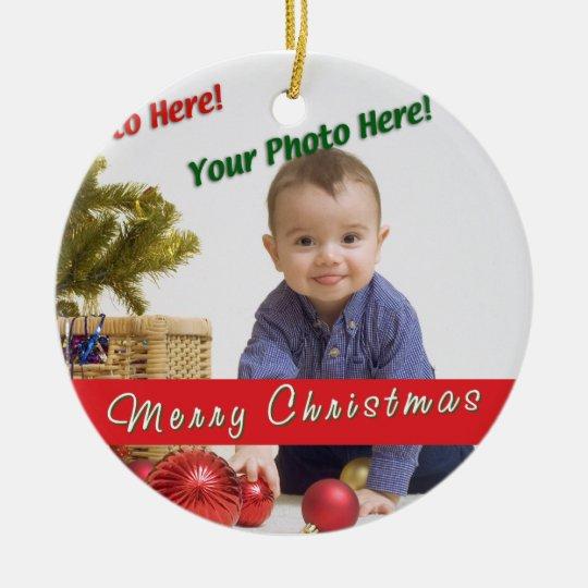 Custom Photo Ceramic Ornament