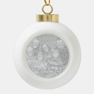 Custom photo Christmas ball | Add your image here Ceramic Ball Christmas Ornament