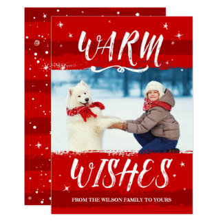 Custom Photo Christmas Cards - Warm Wishes 2017