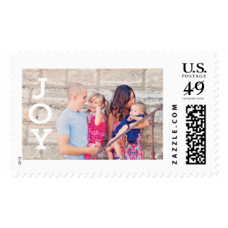 Custom Photo Christmas Holiday Card Postage Stamps