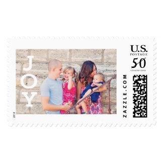 Custom Photo Christmas Holiday Card Postage Stamps
