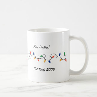 Custom Photo Christmas Lights Mug