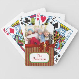 Custom Photo Christmas Playing Cards