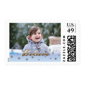Custom Photo Christmas Postage Stamps