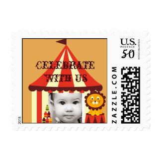 Custom Photo Circus Birthday Postage Stamps