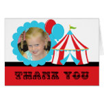Custom Photo Circus Birthday Thank You Note Card