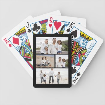 Custom Photo Collage Bicycle Playing Cards by cutencomfy at Zazzle