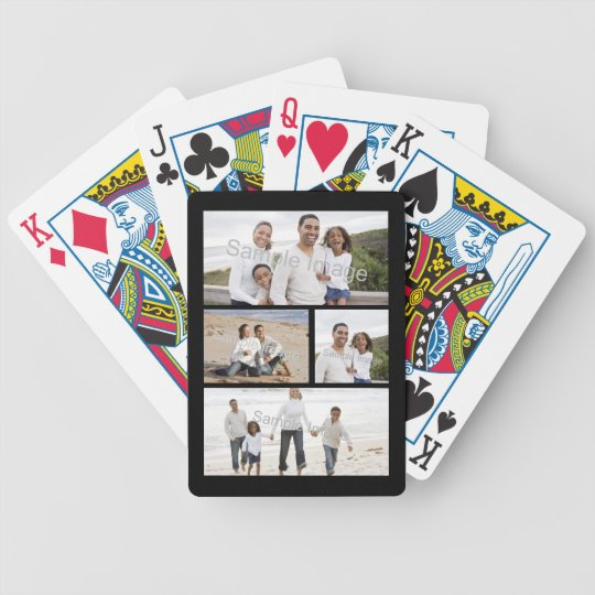 custom photo collage bicycle playing cards. Black Bedroom Furniture Sets. Home Design Ideas