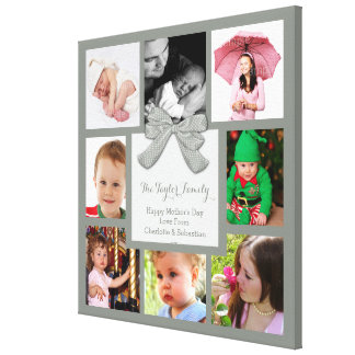 Custom Photo Collage Customizable Stretched Canvas Print