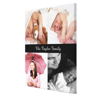 Custom Photo Collage Customizable Stretched Canvas Prints