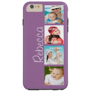 Custom Photo Collage Customizable Tough iPhone 6 Plus Case at Zazzle