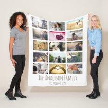 Custom Photo Collage Fleece Blanket