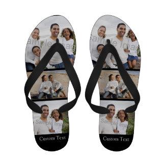 Custom Photo Collage Flip Flops