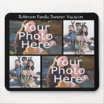 Custom Photo Collage Mousepad Add 4 Photos  Title