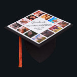 """Custom Photo Collage Personalized Name Year Graduation Cap Topper<br><div class=""""desc"""">Easily customize this photo collage graduation cap topper with 12 favorite photos of your family,  friends or memories. Personalize further with your name and class year. You can even change the background color to suit your style.</div>"""