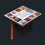 "Custom Photo Collage Personalized Name Year Graduation Cap Topper<br><div class=""desc"">Easily customize this photo collage graduation cap topper with 12 favorite photos of your family,  friends or memories. Personalize further with your name and class year. You can even change the background color to suit your style.</div>"