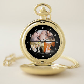Custom Photo Collage Picture Pocket Watch