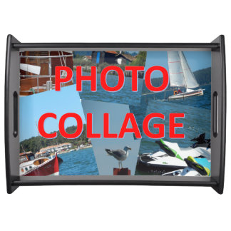 Custom. Photo Collage Serving Tray