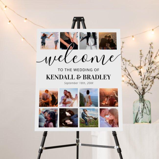 Custom Photo Collage Wedding Welcome Foam Board