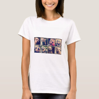 Custom Photo Collage with Square Photos T-Shirt