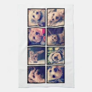Custom Photo Collage with Square Photos Towel