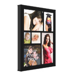 """Custom Photo Collage Wrapped Canvas, 1.5"""" Depth Canvas Print"""