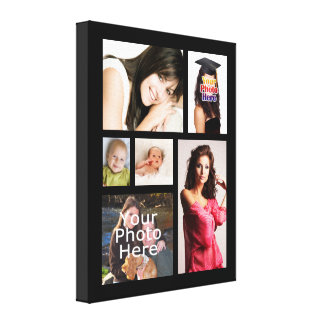 "Custom Photo Collage Wrapped Canvas, 1.5"" Depth Canvas Print"