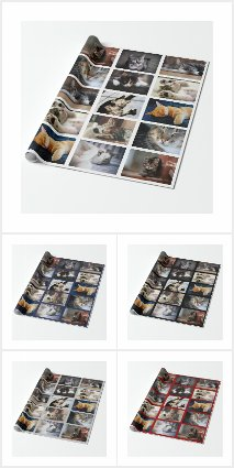 Custom Photo Collage Wrapping Supplies