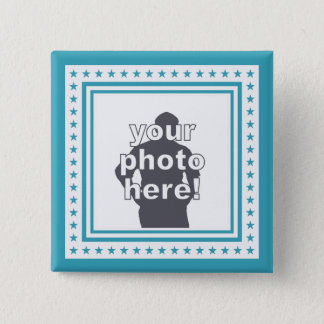 CUSTOM PHOTO & COLOR badge Pinback Button