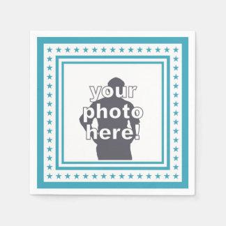 CUSTOM PHOTO & COLOR paper napkins