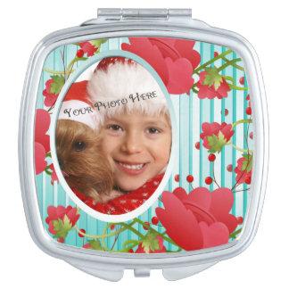Custom Photo Compact for Mom Makeup Mirror