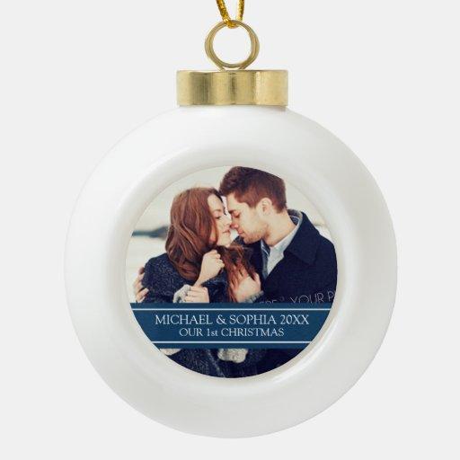 Custom Photo Couple's 1st Christmas Ornament