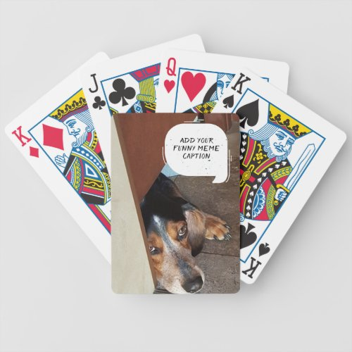 Custom Photo Create Your Own Funny Meme Bicycle Playing Cards
