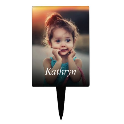 Custom Photo Create Your Own Personalized Cake Topper