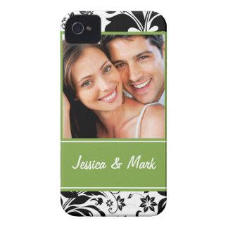 Custom Photo Damask Blackberry BOLD Case