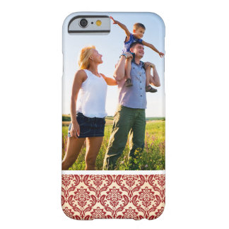 Custom Photo Damask pattern wallpaper Barely There iPhone 6 Case