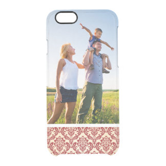 Custom Photo Damask pattern wallpaper Clear iPhone 6/6S Case