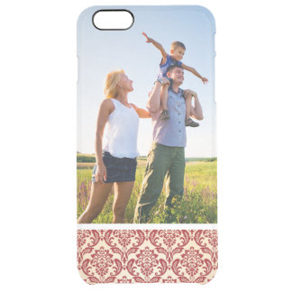 Custom Photo Damask pattern wallpaper Clear iPhone 6 Plus Case