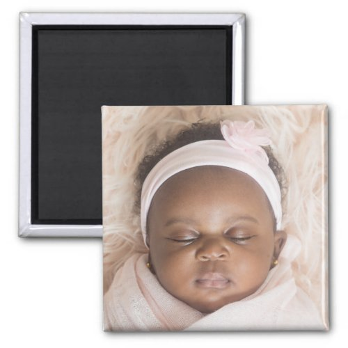 Custom Photo Design Your Own Upload Picture Square Magnet