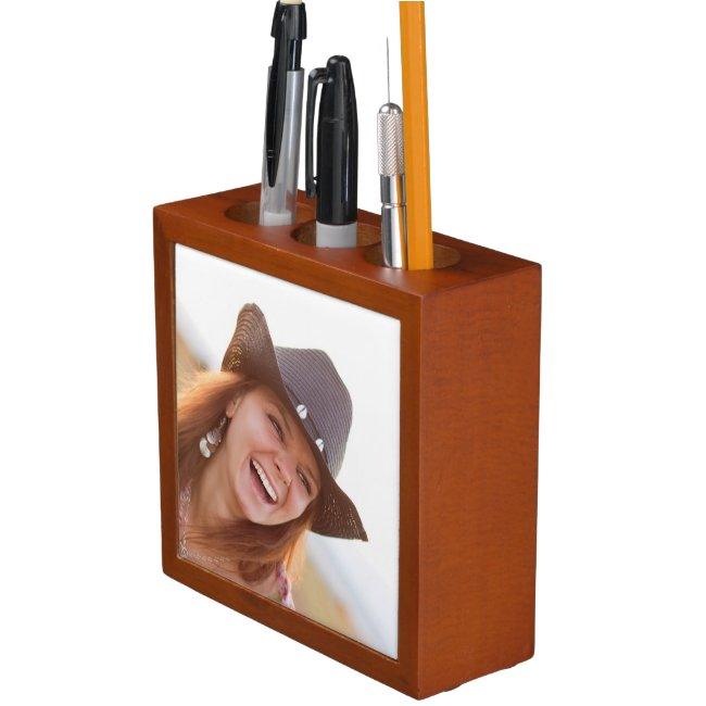 Custom Photo Desk Organizer