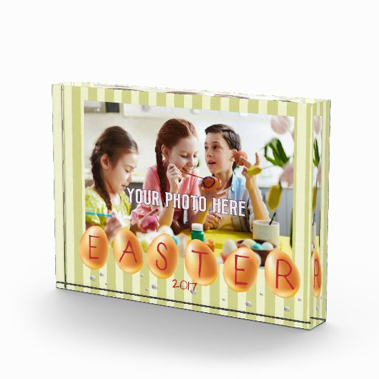 Custom Photo, Easter Acrylic Gift Photo Block