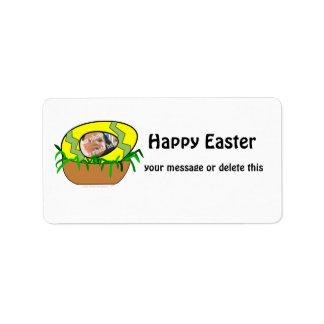 Custom Photo Easter Egg in Nest Template Custom Address Labels